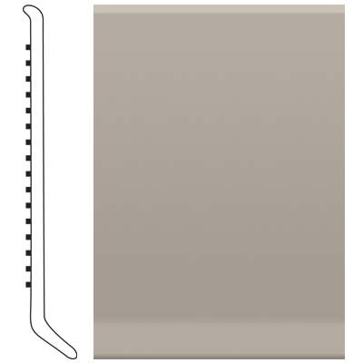 Roppe Pinnacle Rubber Wall Base 6 (Cove Base) Pewter 178