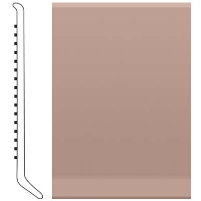 Roppe Pinnacle Rubber Wall Base 6 (Cove Base) Spice 167