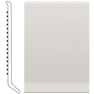 Roppe Pinnacle Rubber Wall Base 6 (Cove Base) White 170