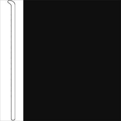 Johnsonite Traditional Vinyl Wall Base Toeless Inch Black - 6 inch black cove base