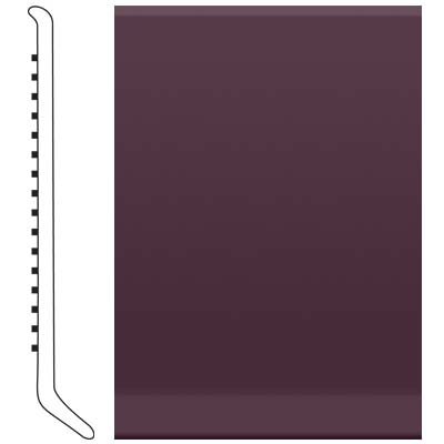 Roppe 6 Inch 1/8 Vinyl Cove Base Burgundy