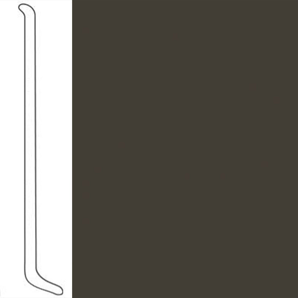 VPI Corp. Wallbase Coved 1/8 2.5-inch Black Brown