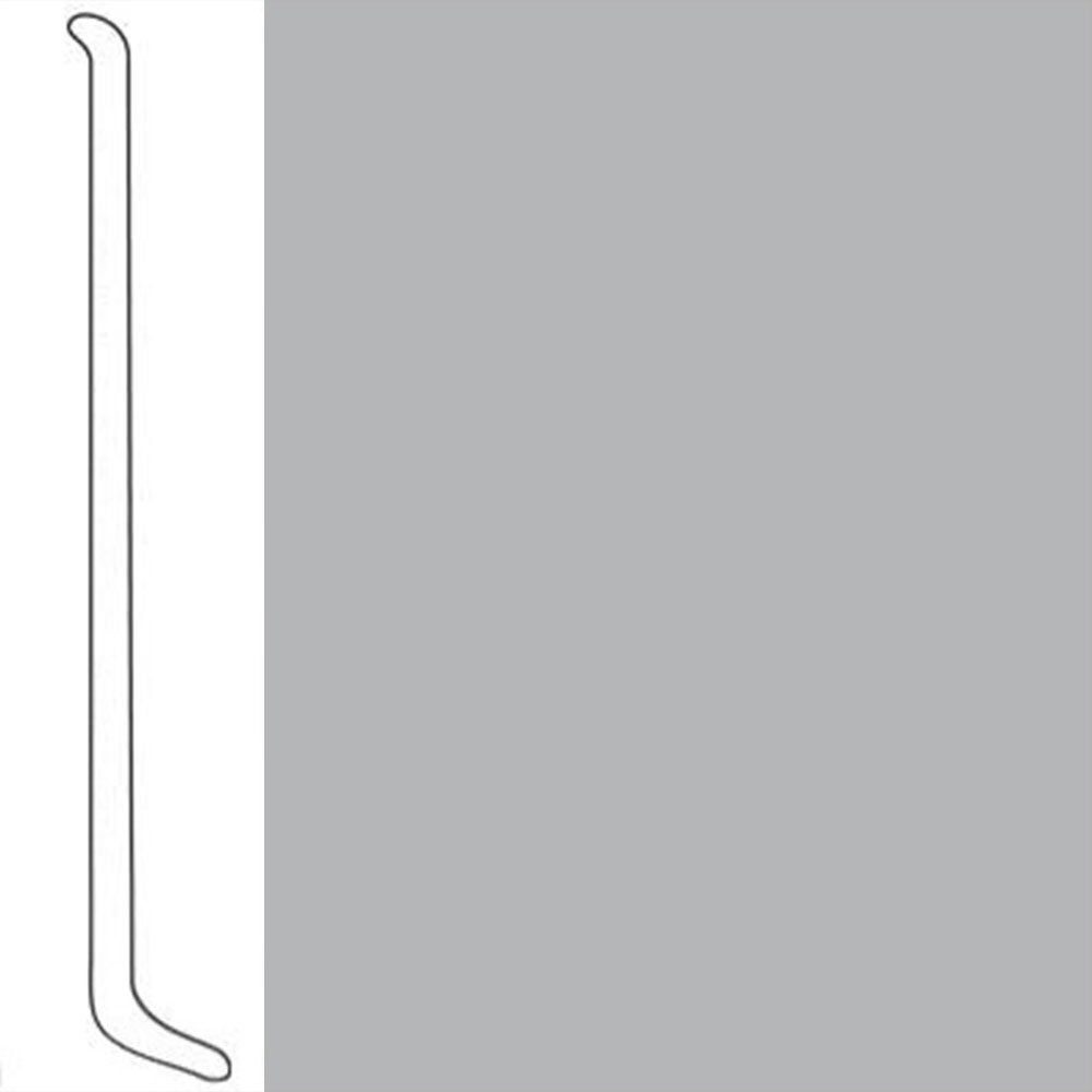VPI Corp. Wallbase Coved 1/8 2.5-inch Dove Grey