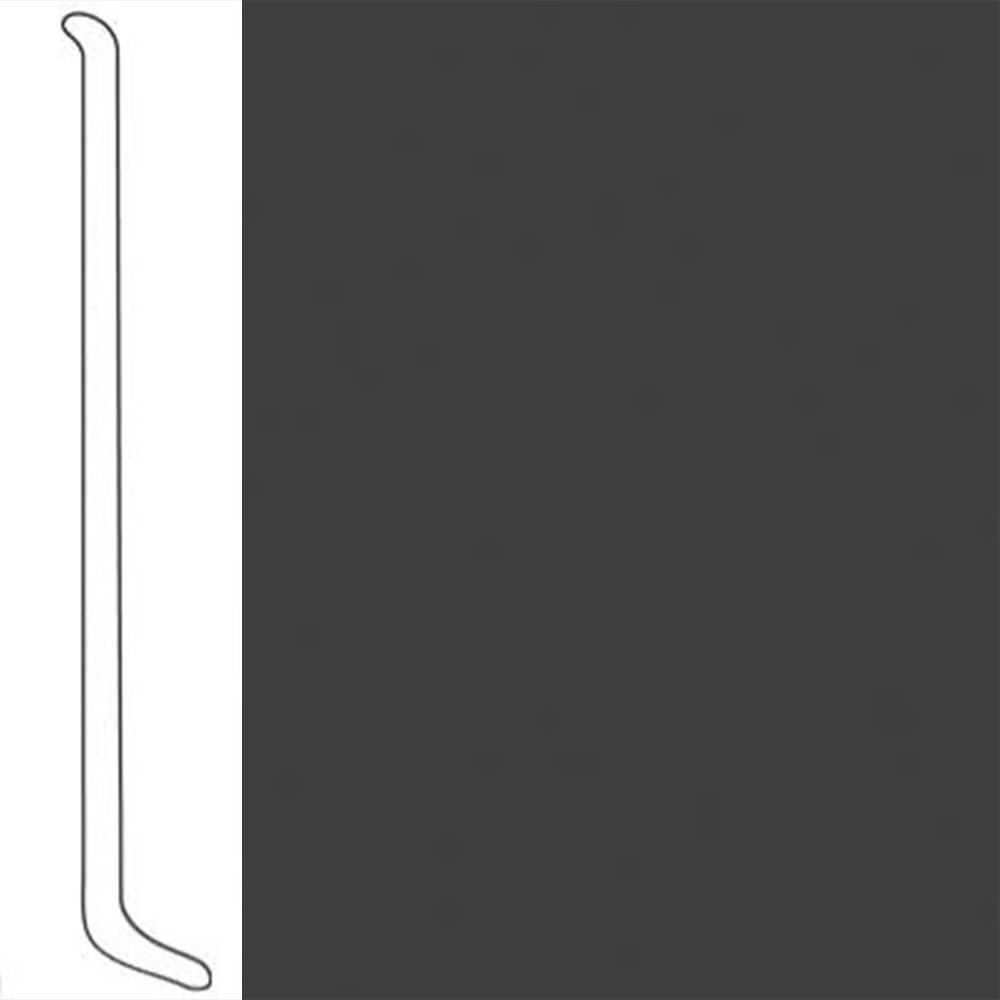 VPI Corp. Wallbase Coved 1/8 2.5-inch Graphite