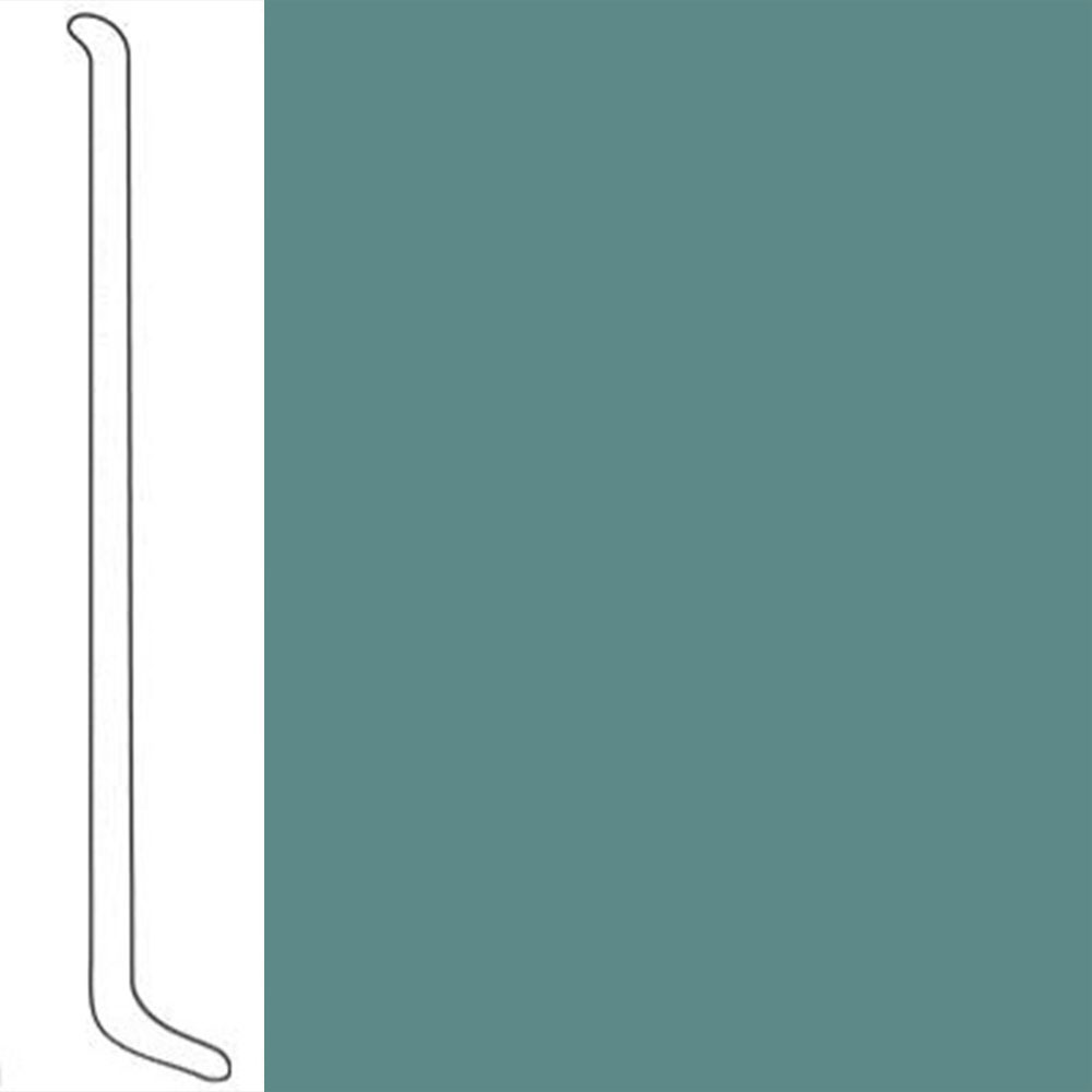 VPI Corp. Wallbase Coved 1/8 2.5-inch Light Teal