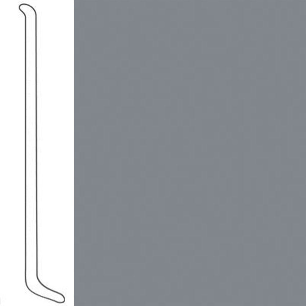 VPI Corp. Wallbase Coved 1/8 2.5-inch Silver Sable