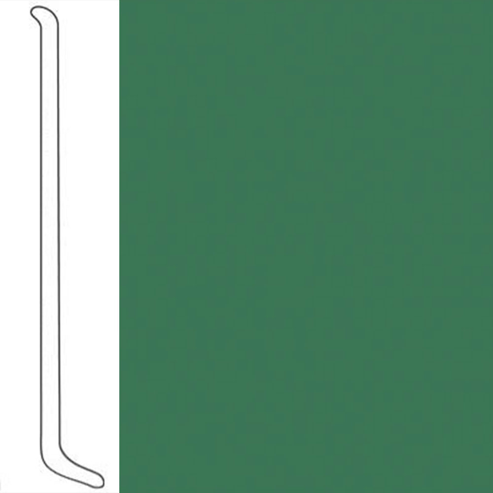 VPI Corp. Wallbase Coved 1/8 2.5-inch Spring Green