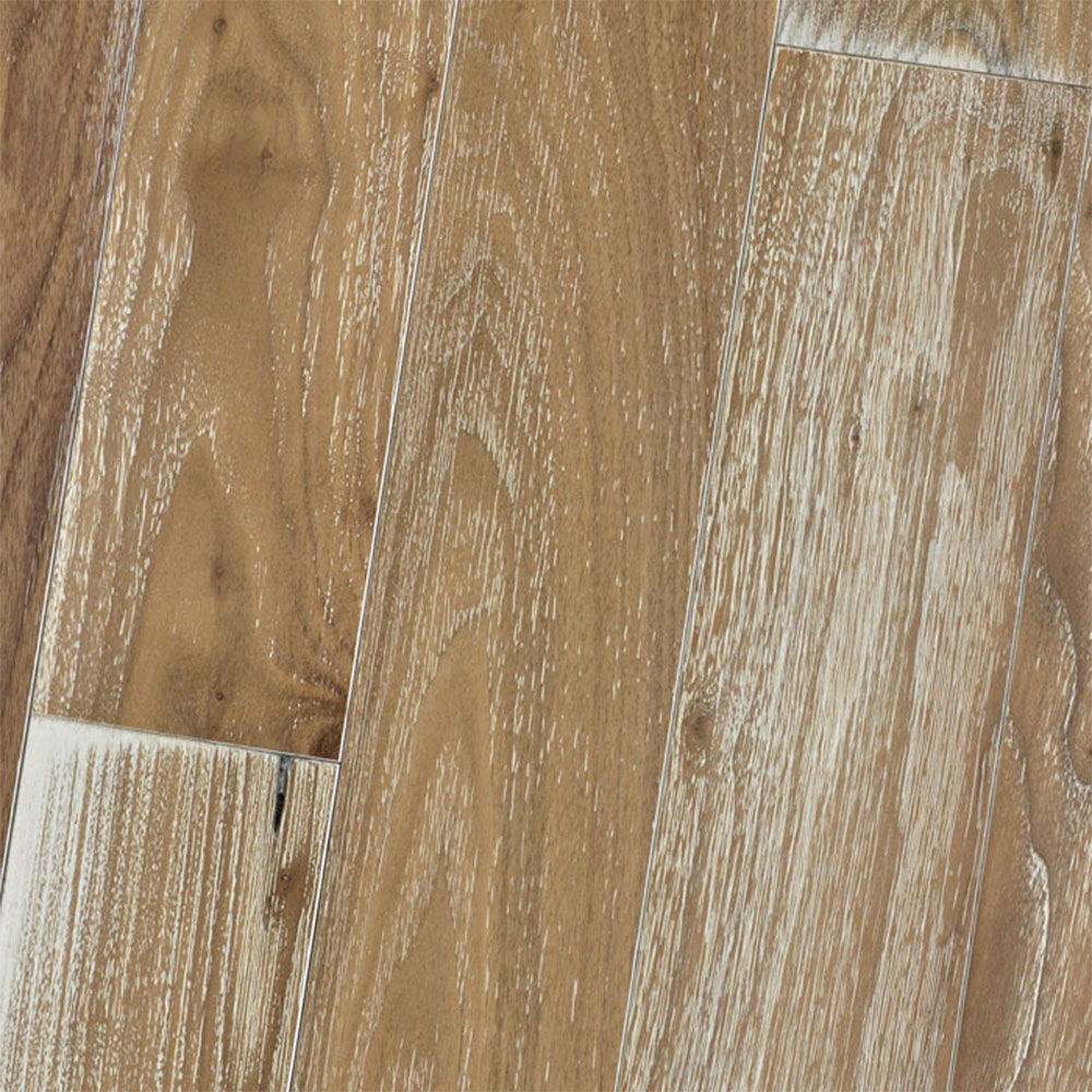 HomerWood Premium Wire Brushed 4 Black Walnut Natural White Limed