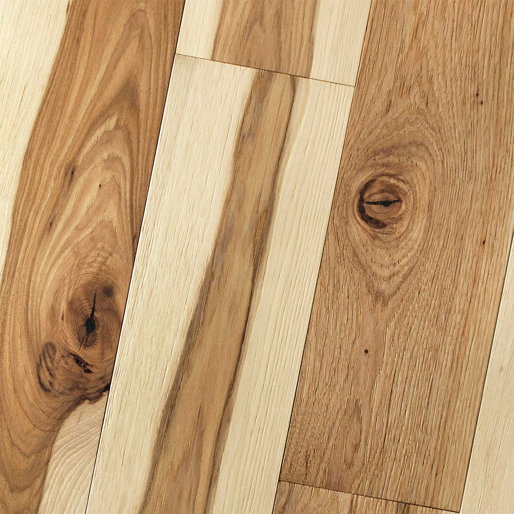 HomerWood Premium Wire Brushed 4 Hickory Natural
