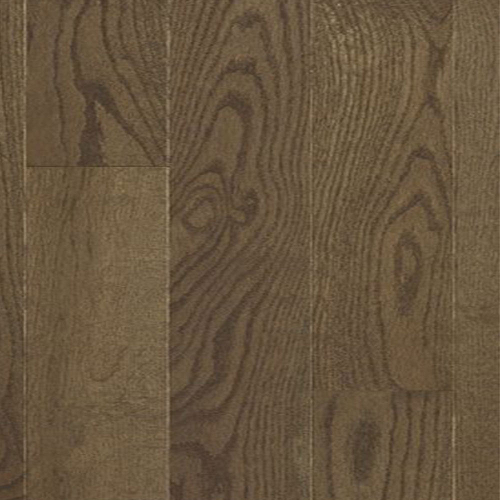 Mercier Design Plus Select and Better Solid 2 1/4 Red Oak Brushed Smoky Brown