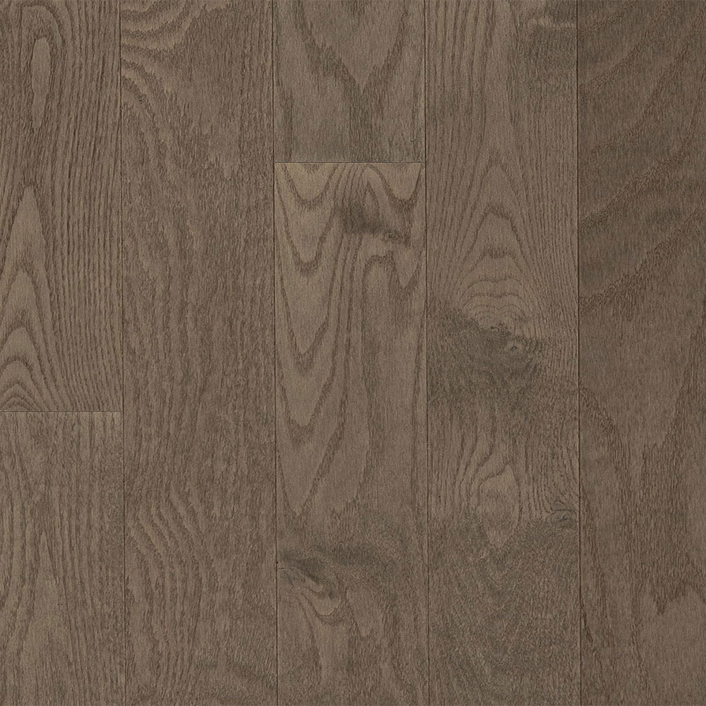 Mercier Design Plus Select and Better Solid 2 1/4 Red Oak Brushed Stone