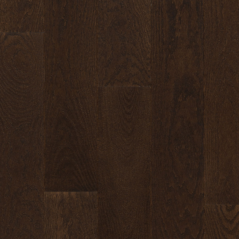 Mercier Design Plus Select and Better Solid 4 1/4 Red Oak Brushed Chocolate Brown