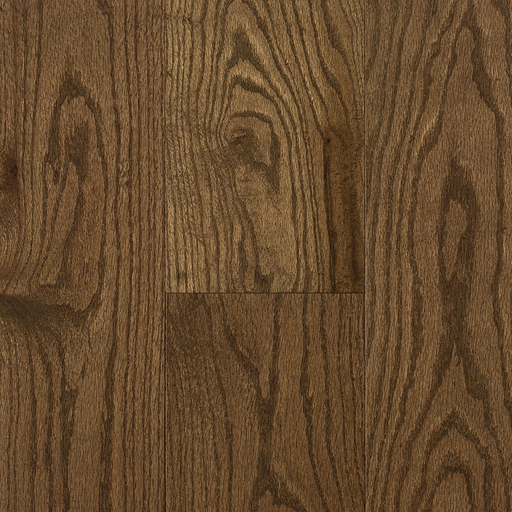 Mercier Design Plus Select and Better Solid 4 1/4 Red Oak Brushed Smoky Brown