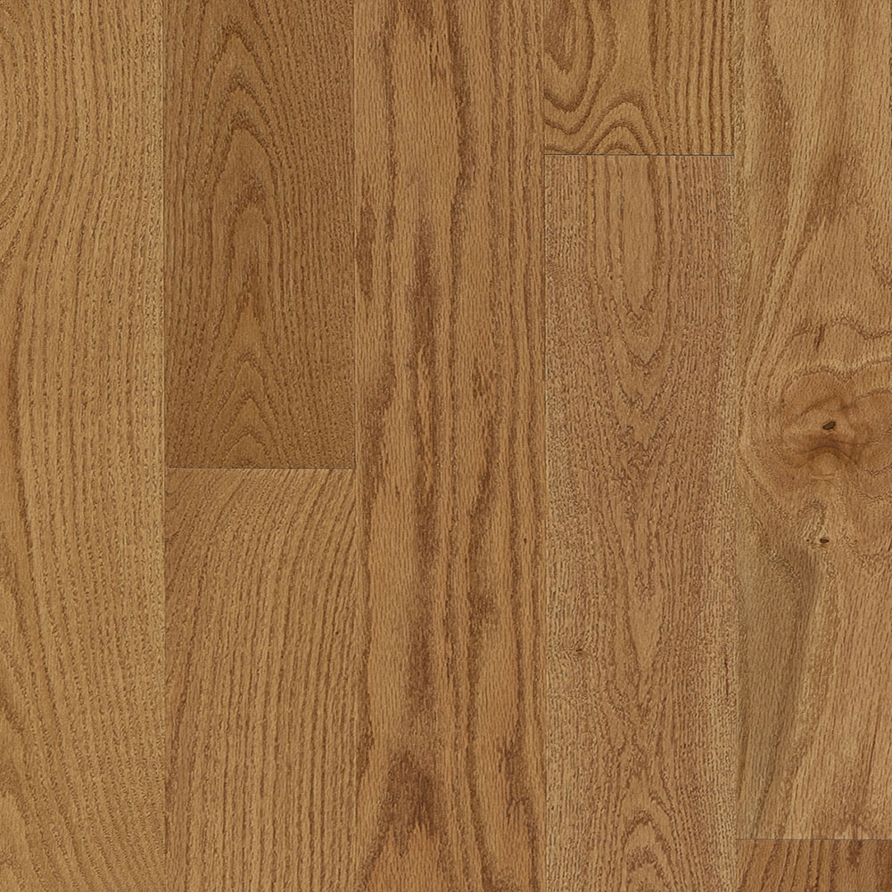 Mercier Design Plus Distinction Solid 3 1/4 Red Oak Toast Brown Satin