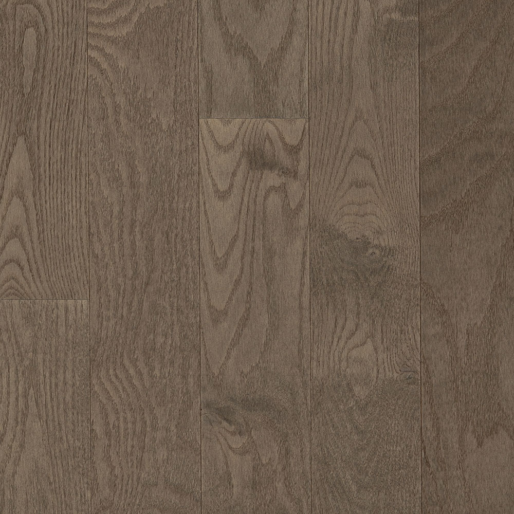 Design Plus Distinction Solid 4 1/4 Red Oak Brushed Stone Brown