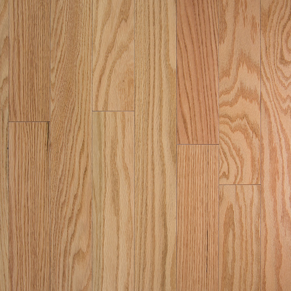 Somerset Color Collections Strip 3 1/4 Solid Natural Red Oak